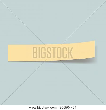 Memo stick bookmark concept background. Realistic illustration of memo stick bookmark vector concept background for web design