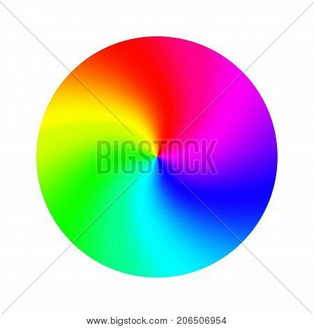 RGB Color Wheel Vector. Round Classic Palette Isolated Illustration