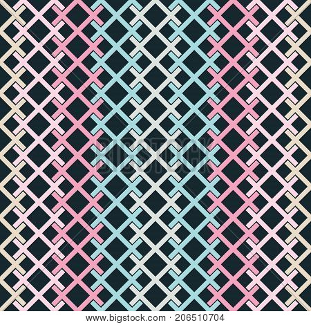 Seamless Pattern Of Colored Intersecting Segments