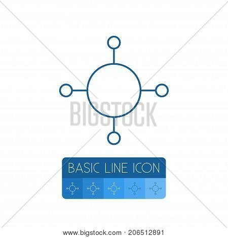 Share Vector Element Can Be Used For Share, Publish, Structure Design Concept.  Isolated Publish Outline.