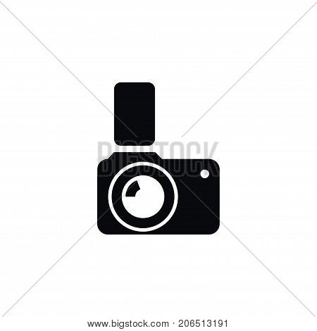 Flash Vector Element Can Be Used For Photocamera, Flash, Camera Design Concept.  Isolated Photographic Icon.