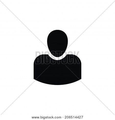 Male Vector Element Can Be Used For Leader, Male, Businessman Design Concept.  Isolated Leader Icon.