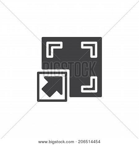 Full screen button icon vector, filled flat sign, solid pictogram isolated on white. Symbol, logo illustration.