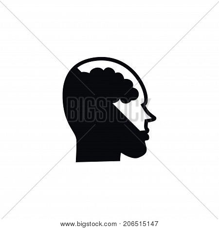 Intellect Vector Element Can Be Used For Intellect, Brainstorming, Human Design Concept.  Isolated Brainstorming Icon.