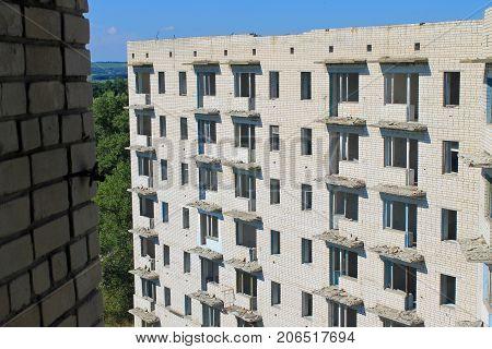 Abandoned Multistory Building In Ukraine