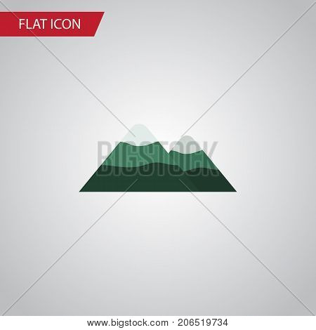 Peak Vector Element Can Be Used For Mountain, Peak, Pinnacle Design Concept.  Isolated Mountain Flat Icon.