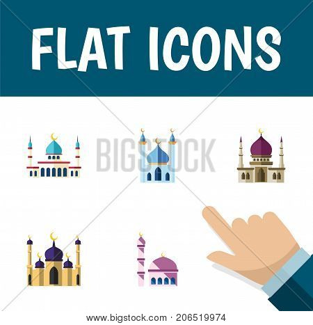 Flat Icon Mosque Set Of Islam, Mosque, Traditional And Other Vector Objects