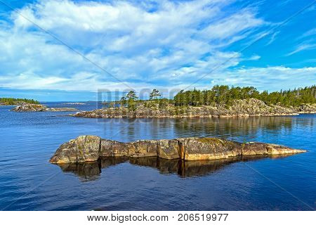 Small Islands In The Ladoga Skerries, Karelia, Russia.