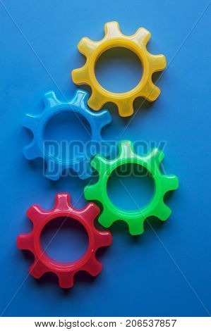 a conceptual image of a cog wheel gear system.