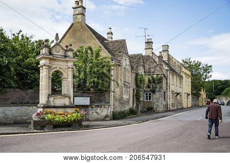 Street in the market town of Corsham England UK which was also used for the filming location of the BBC drama Poldark.