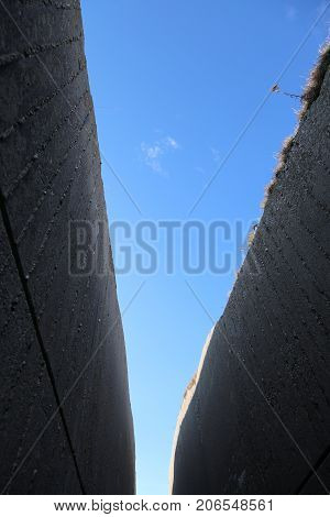 Walls Of A Trench Of The First World War