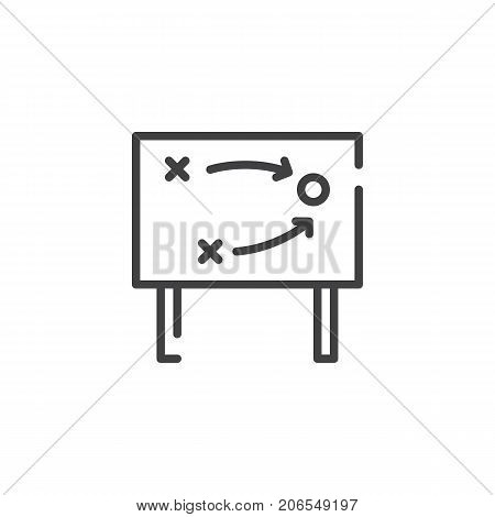 Tactics line icon, outline vector sign, linear style pictogram isolated on white. Symbol, logo illustration. Editable stroke