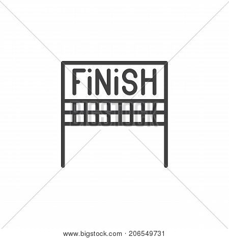 Finish line icon, outline vector sign, linear style pictogram isolated on white. Symbol, logo illustration. Editable stroke