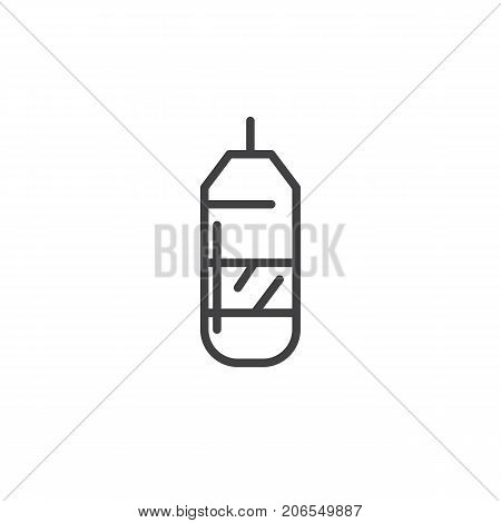 Punching bag line icon, outline vector sign, linear style pictogram isolated on white. Symbol, logo illustration. Editable stroke