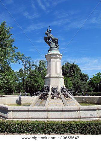 Fallen Angel Statue In Madrid Spain