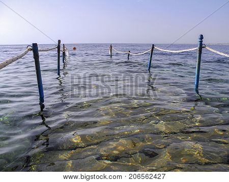 The Red Sea has the best snorkling and the path gives easy access to the coral reef