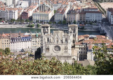 The Beautiful City Of Lyon In France