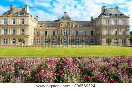 The Luxembourg palace , it was originally built 1615-1645 to be the royal residence of Marie de Medici , mother of louis XIII. Since of 1958it has been the seat of the French Senate.