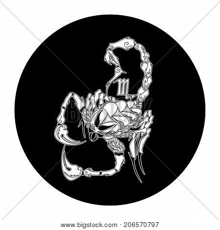 Scorpio zodiac sign horoscope symbol vector illustration