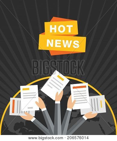 Concept of breaking news dark vector background