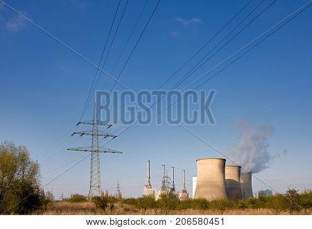 Power Station And Lines