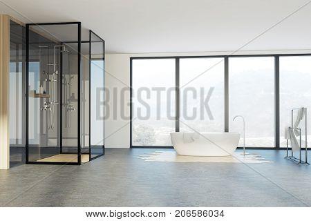 Loft Bathroom, Shower And Tub