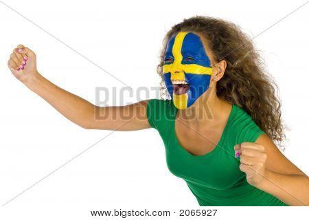 Famale Swedish Sport'S Fan