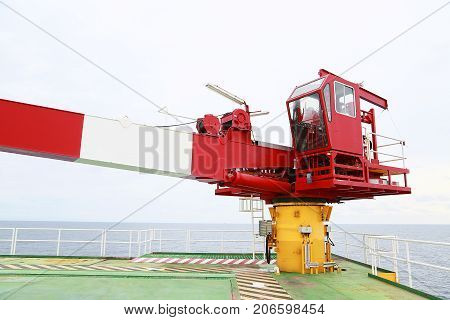 Crane under maintenance routine job by crane operator or technician, fix and service crane with preventive maintenance schedule,Technician service the hydraulic system and controller of crane station.