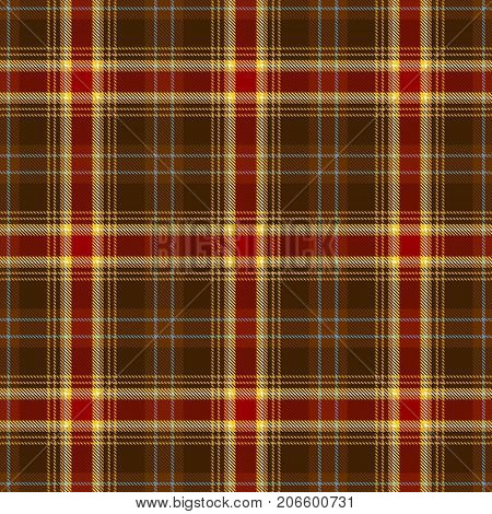 Tartan Seamless Pattern Background. Red Blue Brown Gold and White Plaid Tartan Flannel Shirt Patterns. Trendy Tiles Vector Illustration for Wallpapers.
