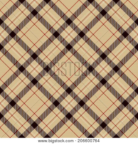 Tartan Seamless Pattern Background. Black Red Beige and White Plaid Tartan Flannel Shirt Patterns. Trendy Tiles Vector Illustration for Wallpapers.