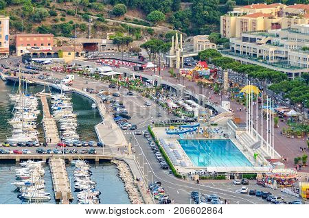Bird's eye view of Rainier III Nautical Stadium - Monaco, 9 July 2013