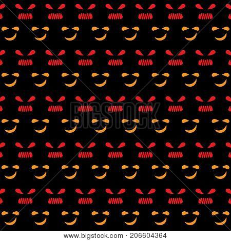 Nervous face emotion created halloween pattern background stock vector