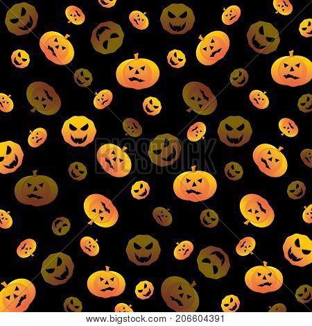 Halloween pumpkin create textured background stock vector
