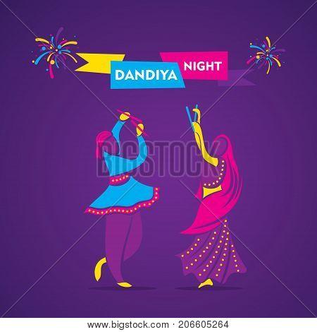 creative dandiya night garba dance banner design