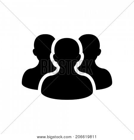 People icon isolated on white background