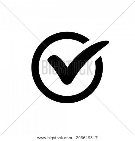 Check mark vector icon isolated on white background