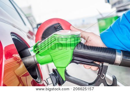 price of gas is very low, man at fuel station