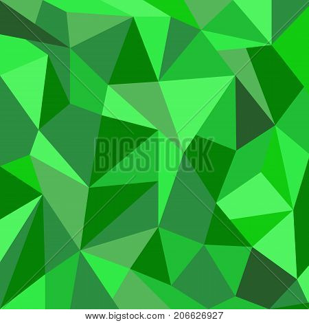 Green vector abstract polygonal triangular background. Could be used as background for St Patriks Day cards, invitations, posters.