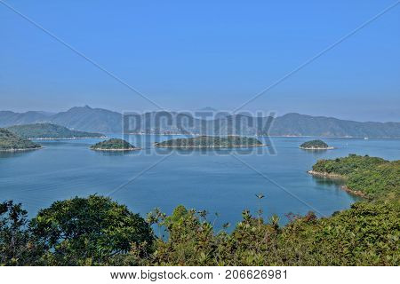 The view to the open sea from the Chicken Island near Maoming in Guangdong province in China.