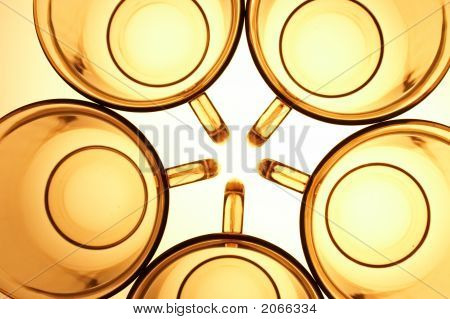 Yellow Transparent Cups