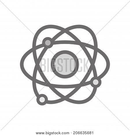 grayscale physics orbit atom chemistry education vector illustration