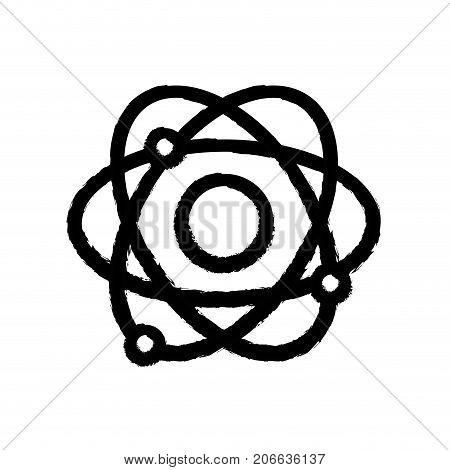 figure physics orbit atom chemistry education vector illustration