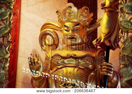 Chief Of The Four Kings And Protector Of The North In Four Heavenly Kings Are Four Buddhist Gods At