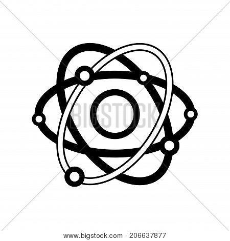 contour physics orbit atom chemistry education vector illustration