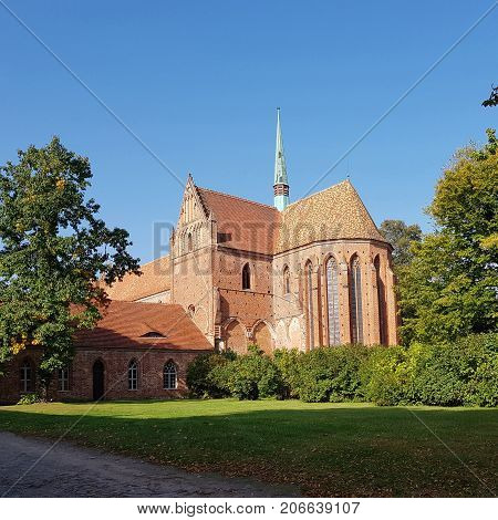 Choir and turret at the former abbey Chorin in Germany