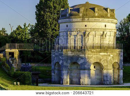 The Mausoleum of Theoderic (Mausoleo di Teodorico) in Ravenna Italy