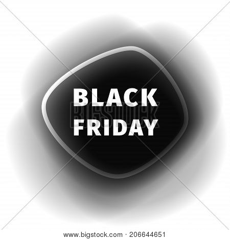 Black Friday smoothed black banner with a thick black shadow. Creative design templates