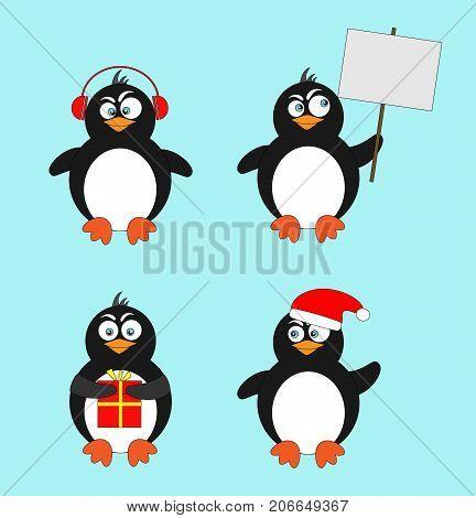 Penguin  vector illustration character cartoon funny cute animal