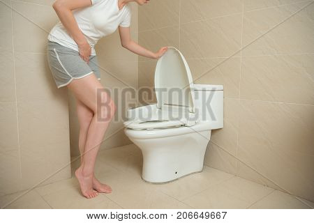 Woman Feeling Stomach Ache During Menstruation
