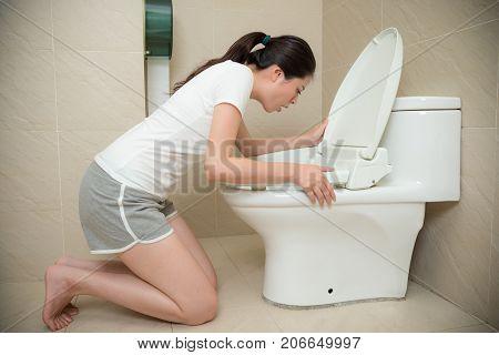 Sweet Girl Getting Pregnancy Feeling Nausea